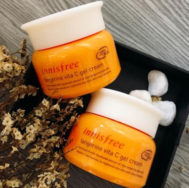 Hình ảnh kem dưỡng trắng da Innisfree tangerine vita C gel cream