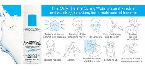 Các công dụng của xịt khoáng La Roche-Posay Thermal Spring Water