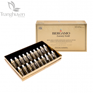 Serum Bergamo Luxury Gold Caviar Vitamin 20 Ống