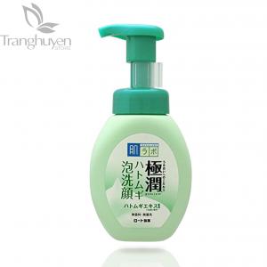 Sữa Rửa Mặt Tạo Bọt Dành Cho Da Dầu Và Mụn Hada Labo Gokujyun Hatomugi Bubble Foaming Face Wash 160ml