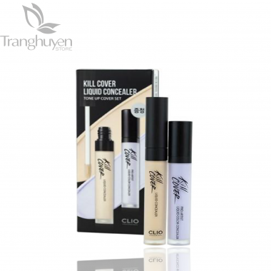 Set Che Khuyết Điểm Clio Kill Cover Liquid Concealer Tone Up Cover Set